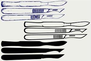 Medical scalpels SVG