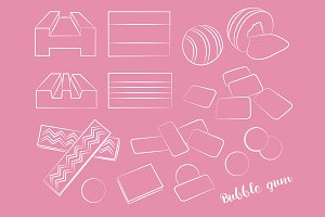 Bubble gum set