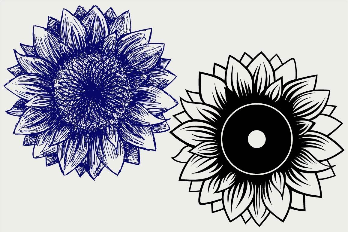 Download Sunflower symbol SVG ~ Icons ~ Creative Market