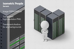 Isometric People - Servers