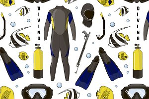 Diving equipment pattern