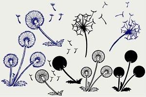 Blow Dandelion SVG