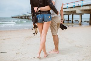 couple in love, sea, travel