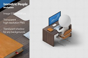 Isometric People - Workplace