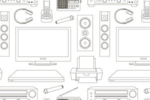 Home technics pattern