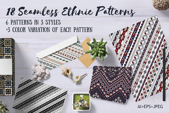 18 Ethnic Seamless Patterns