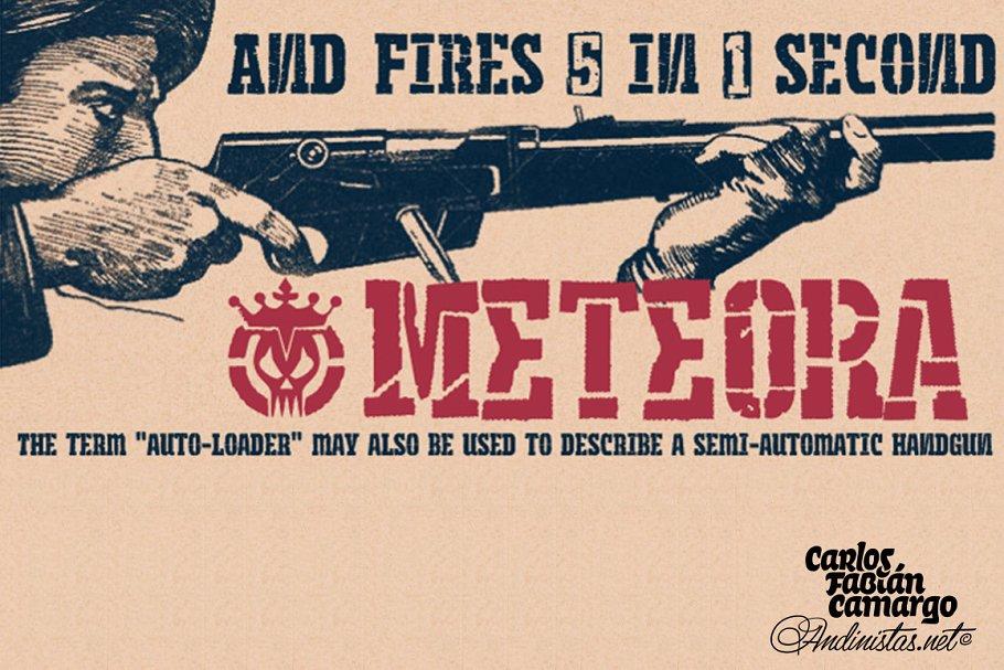 Meteora font family ~ Fonts ~ Creative Market
