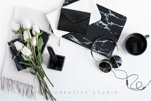 Styled Desktop, Black marble