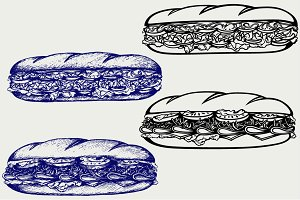 Sub Sandwich SVG