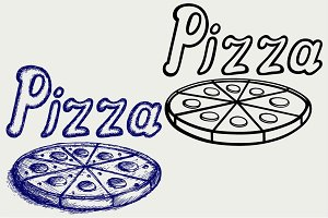 Delicious pizza SVG