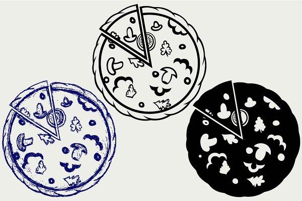Delicious pizza SVG