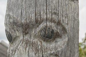 Close up totem pole