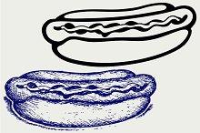 Old-fashioned hot dog