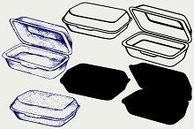 Foam meal box