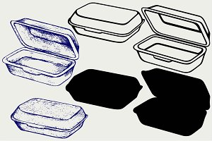 Foam meal box SVG DXF