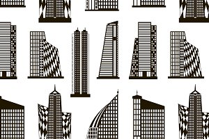 Skyscrapers set pattern