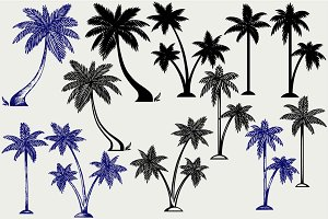 Palm trees SVG