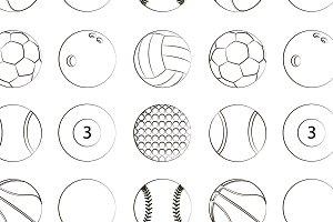 Sport Balls Set pattern