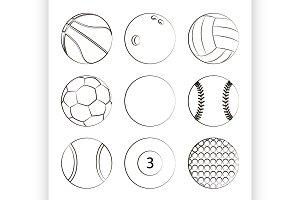 Sport Balls Set