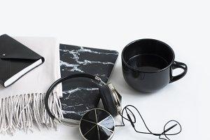 Styled Stock Image, Black Marble 4