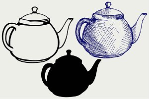 Ceramic teapot SVG