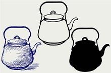 Vintage metal kettle