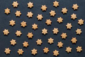 Stars shaped cookies pattern