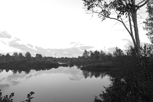 River View in B&W