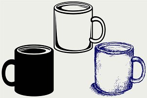 Coffee cups SVG
