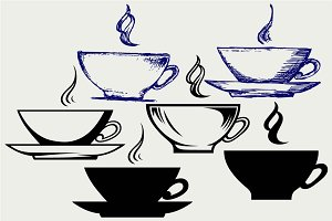 Сup of hot tea SVG