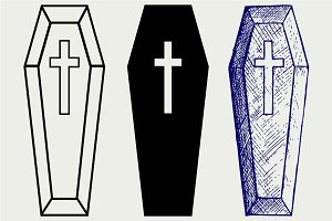 Black coffin SVG