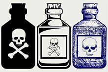 Glass bottles of poison SVG