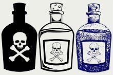 Bottles of poison SVG
