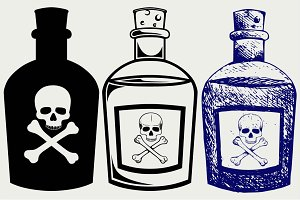Bottles of poison SVG