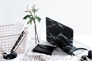 Styled Stock Image, Black marble 5