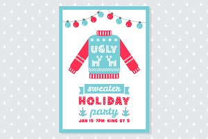 Ugly Sweater Party 5x7 Invitation