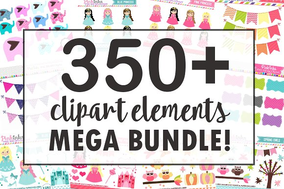 90% OFF Clipart Bundle Pack