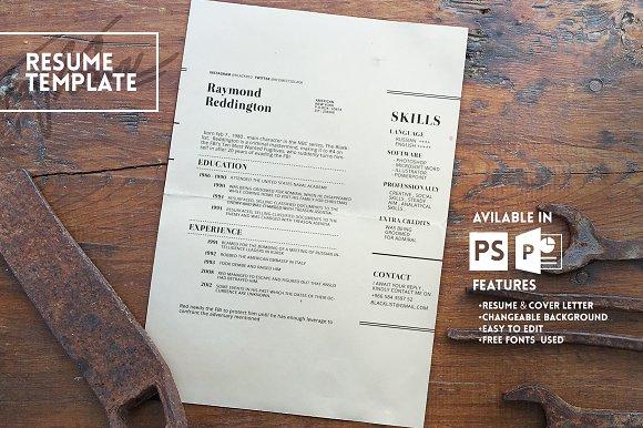 blacklist resume template resume templates creative market