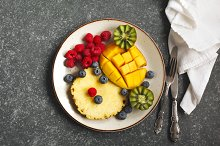 Fresh fruits. Healthy eating.