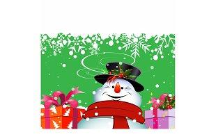 Christmas snowman. Christmas Card