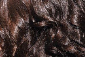 Dark woman hair