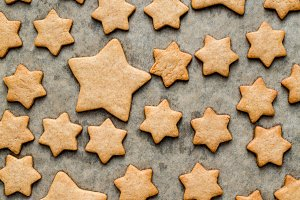 Gingerbread stars cookies