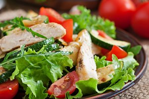 Salad of chicken