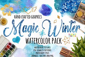 Magic Winter Watercolor Pack