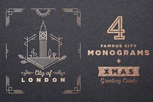 Famous City Monograms