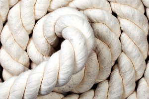 white spiroid isolated rope