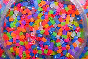 a lot of color small objects