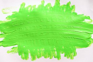 paper with light green smears