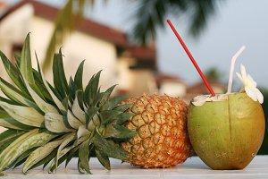 fresh coconut drink