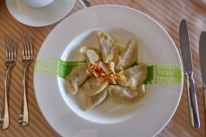 Delicious  boiled dumplings
